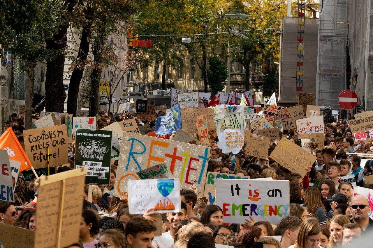 Demo für Umweltschutz